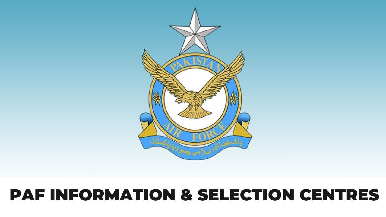 PAF Information & selection centres