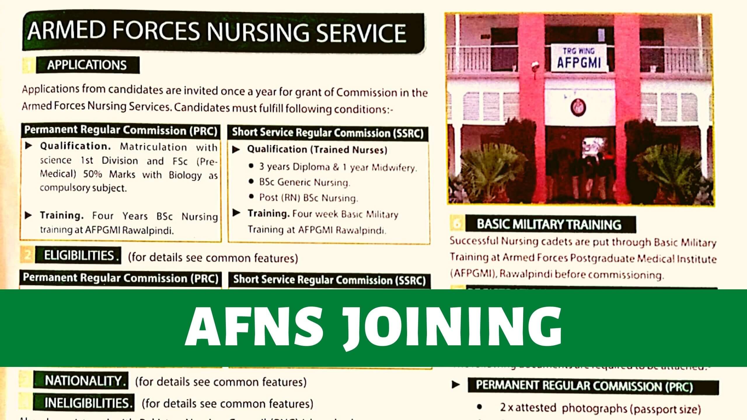 Armed Forces Nursing Services AFNS