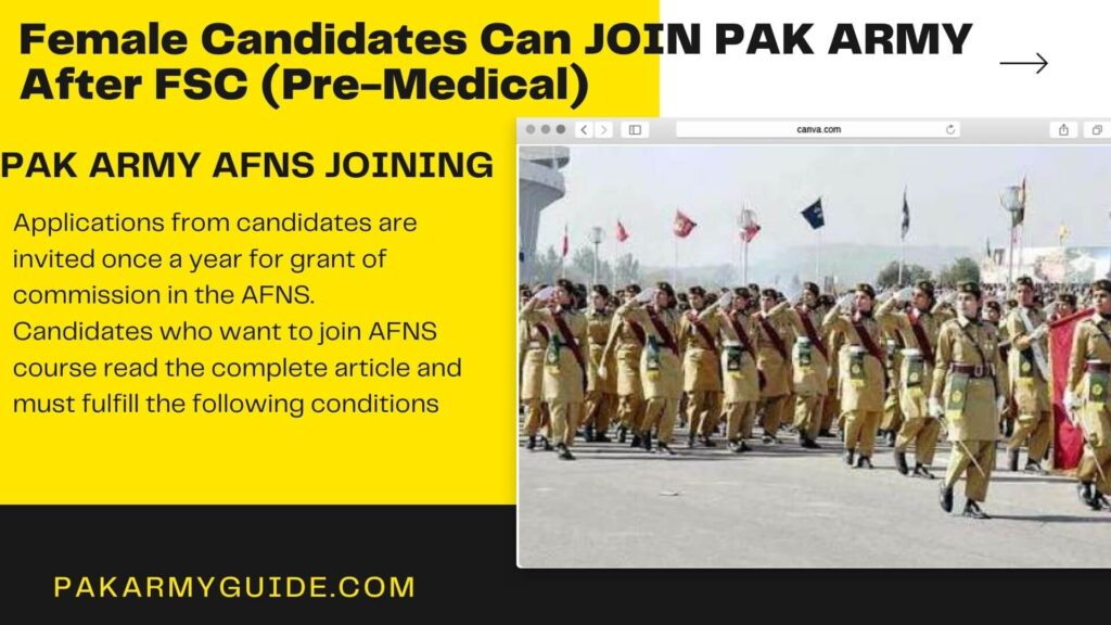 PAK Army AFNS Joining