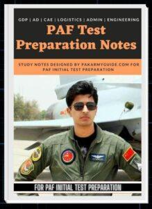 PAF Test Preparation Book